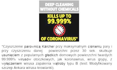 Parownice Karcher usuwają koronawirusa
